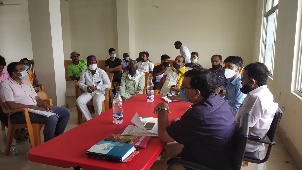 जल जीवन हरियाली , कचरा प्रबंधन तथा स्वच्छता अभियान को लेकर बैठक,